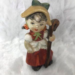 """Vintage Little Bo Peep Porcelain Figurine 3.5"""" Tal"""